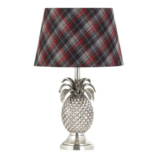 Pewter effect plate Tablelamp BXEH-PINEAPPLE-TL-17 by Endon (Class 2 Double Insulated)
